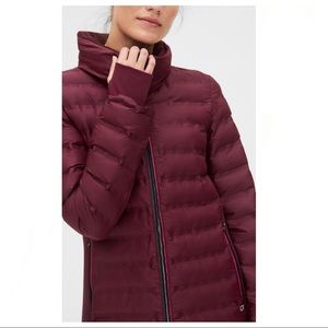 GapFit   Plum Puffer Coat Women